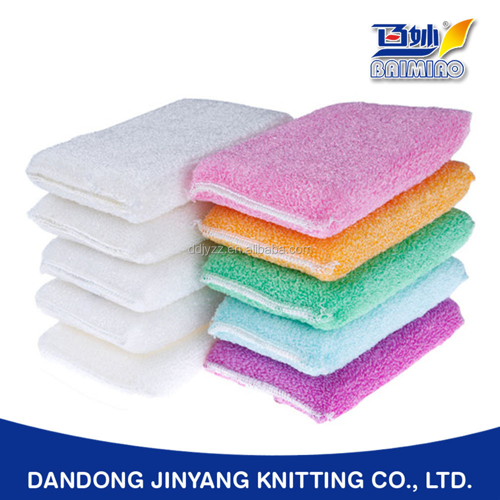 dinnerware washing bamboo or plant fiber customized warp knitting oil free compound foam cleaning sponge
