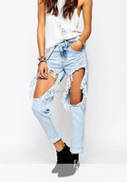 Sexy Women's Denim Jeans Girls Distressed Jeggings Ladies Stretch Pencil Pants