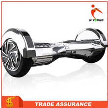 CE, FCC RoHs chrome silver hoverboard with bluetooth speaker 8inch smart wheel