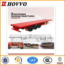 Made in China New 20ft/40ft Container Flatbed Trailer For Sale With Truck Air Bag Suspension