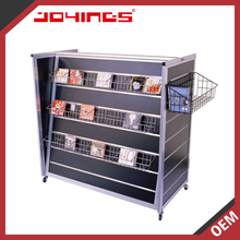 2016 Hot Sale Customized Floor Standing Metal Cd Rack For Retail