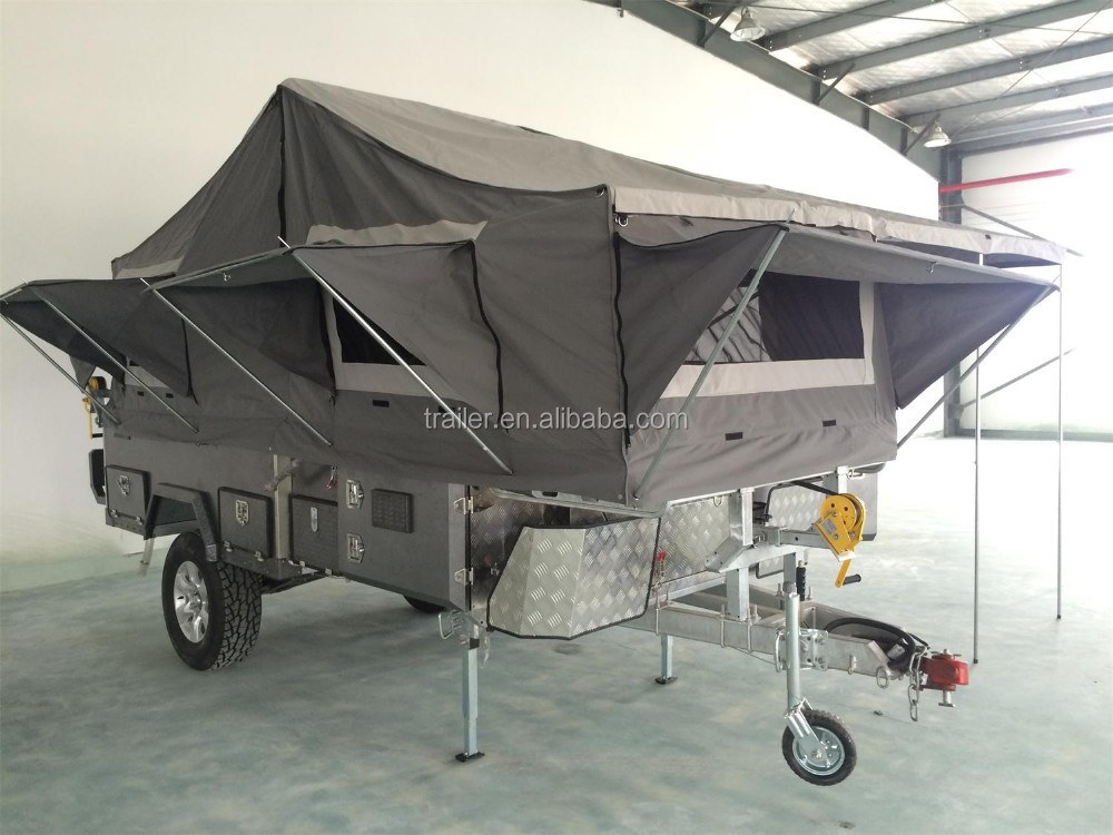 Popular Sale Hard Floor Camper Trailer With Tent For Sale  Buy Tent Trailers