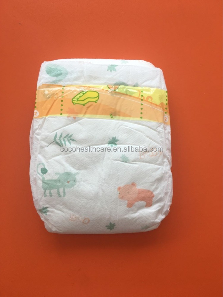 2015 Newest Cloth-like 3D Printing Design Disposable Sleepy Baby Diaper