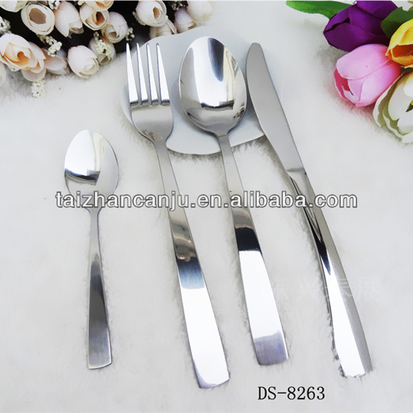 Stainless steel table set knife spoon fork