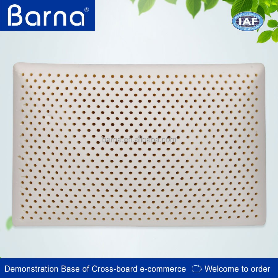 porous ventilating washable latex rubber pillow with removable case,ergonomic latex rubber pillow for cervical curve
