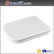 new raw material duroplast rectangular toilet seat with stainless steel hinge
