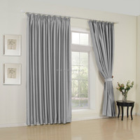 Alibaba Wholesale Window Curtain Plain Dyed High Quality Blackout 100% Polyester Curtain Fabric