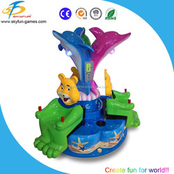 Amusement park dynamic mini kids carousel rides carousel horses for sale