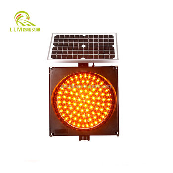 Good water- resistance reliable performance yellow solar flashing warning light