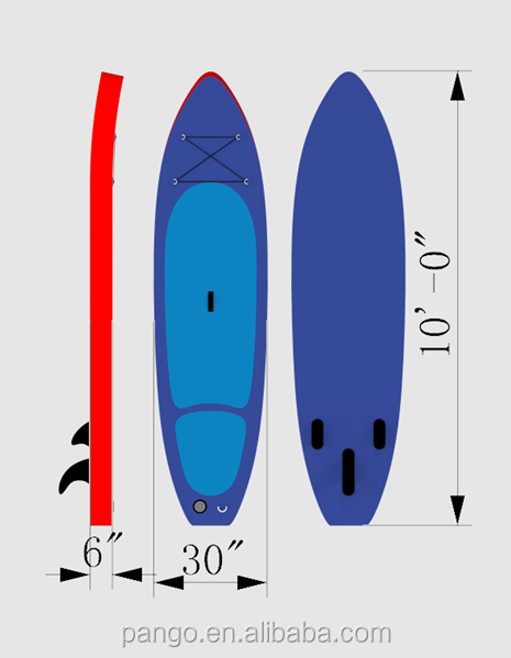 inflatable body board/jet surf power board