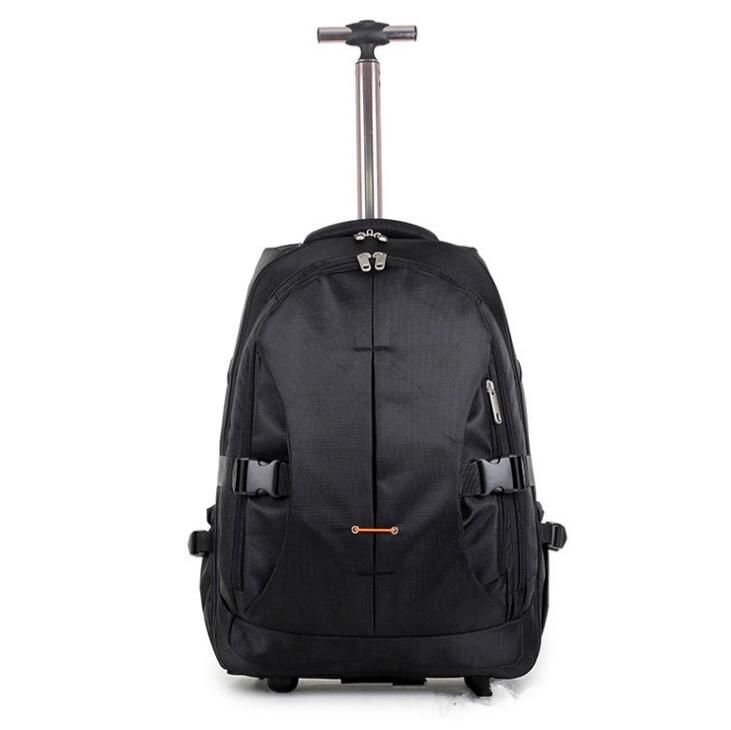 Carry On Wheeled Concealable Shoulder Straps Laptop Cabin Rolling Travel Trolley Backpack