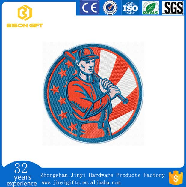 2017 custom embroidery patch with free design in zhong shan