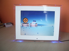LED acrylic clear cube desktop funny custom photo frame for <strong>pictures</strong>