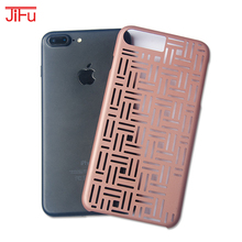 mobile phone cover hollow design protective case for iPhone7 for iPhone 7 plus shockproof fashion PC oil coating case