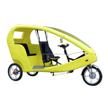 Sightseeing Tour Tricycle 3 Wheel Electric Rickshaw, 21 Gears Manpower Pedal Rickshaw Pedicab For Sale