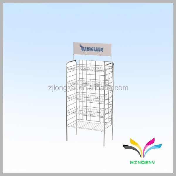 Chinese supplier own factory supermarket floor metal drawer shelf