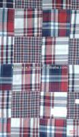 bamboo madras cotton patchwork fabric