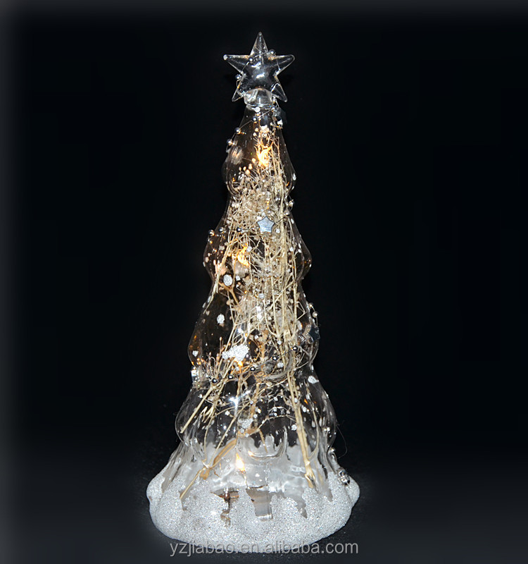 Hot selling christmas tree items 24cm tall transparent for Christmas tree items list