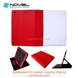2014 New Products !Sublimation Leather Tablet Case For iPad 5