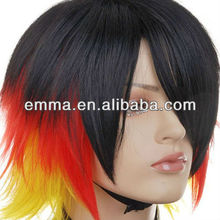 German fan Short Spike Wigs W152