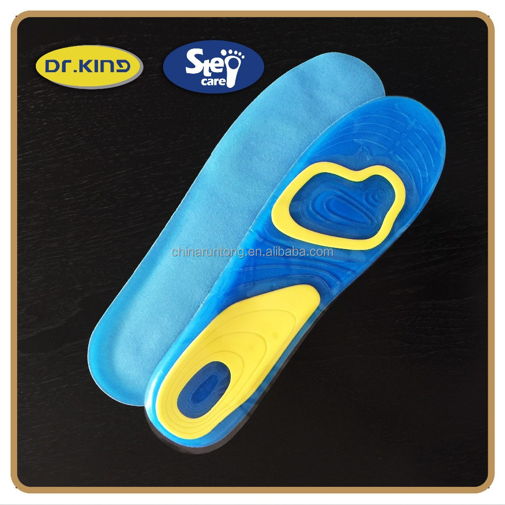 Soft walking gel waterproof shoe insole