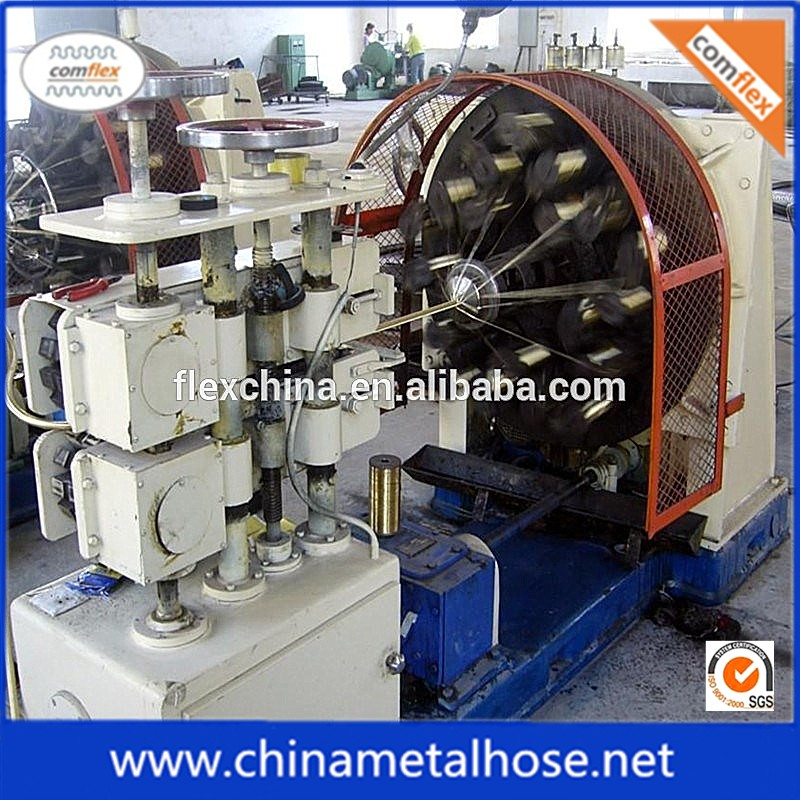 Hydraulic hose stainless steel wire braiding machinery