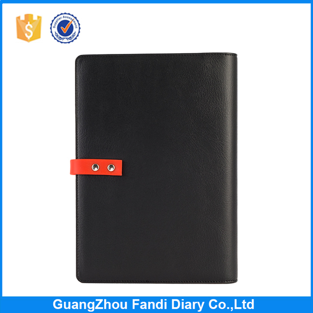 2017 USB PU Leather Notebook Luxury Business Meeting Organizer usb notebook