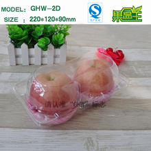Rectangular clear rigid plastic apple fruit storage packaging moving boxes sale