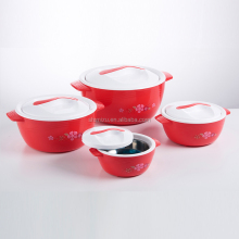 4 piece set plastic keeping hot casserole hot pot / insulated casserole hot pot