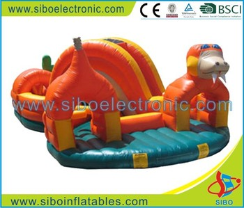 SIBO fancy children inflatable animal trampoline for rent