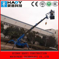 Mini hydraulic telescopic jib boom crawler crane with radio remote control for sale