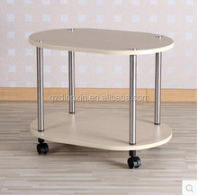 wooden tv table with wheels(DX-3514)