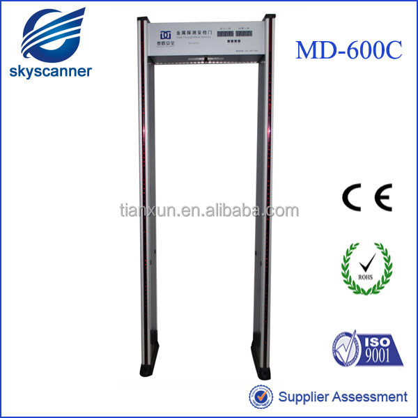 Airport Safety Equipment,6 Detection Zone Walk Through Body Scanner