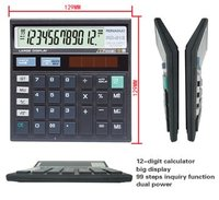 fancy stationery products electronic desk calendar 512 calculator 12-digit calculator solar calculator check function calculator