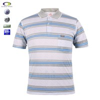 Best selling men custom striped polo shirt sewing pattern