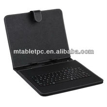 9.7 inch Tablet case with mini usb port Keyboard Leather Case with mic usb port in good price