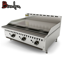 Catering Equipment Counter Top Pancake Stainless Steel Flat Plate Commercial Gas Griddle