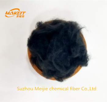 black polyester staple fiber PSF for yarn manufacturing