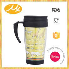 2016 fashion eco friendly custom printed reusable cute travel coffee mug