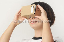 2016 Dahua cheap V1 Google Cardboard Virtual Reality box 2.0 with remote,gaming glasses