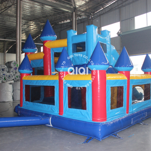 5.52*5.12*3.44M Bouncy castles combos with slide and small pool