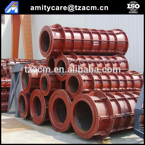 Flat/socket mouth steel mould for precast concrete pipe