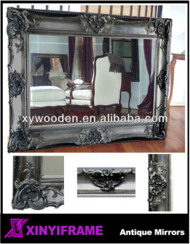 "Big Mirror 72x48"" bevelled mirror silver"