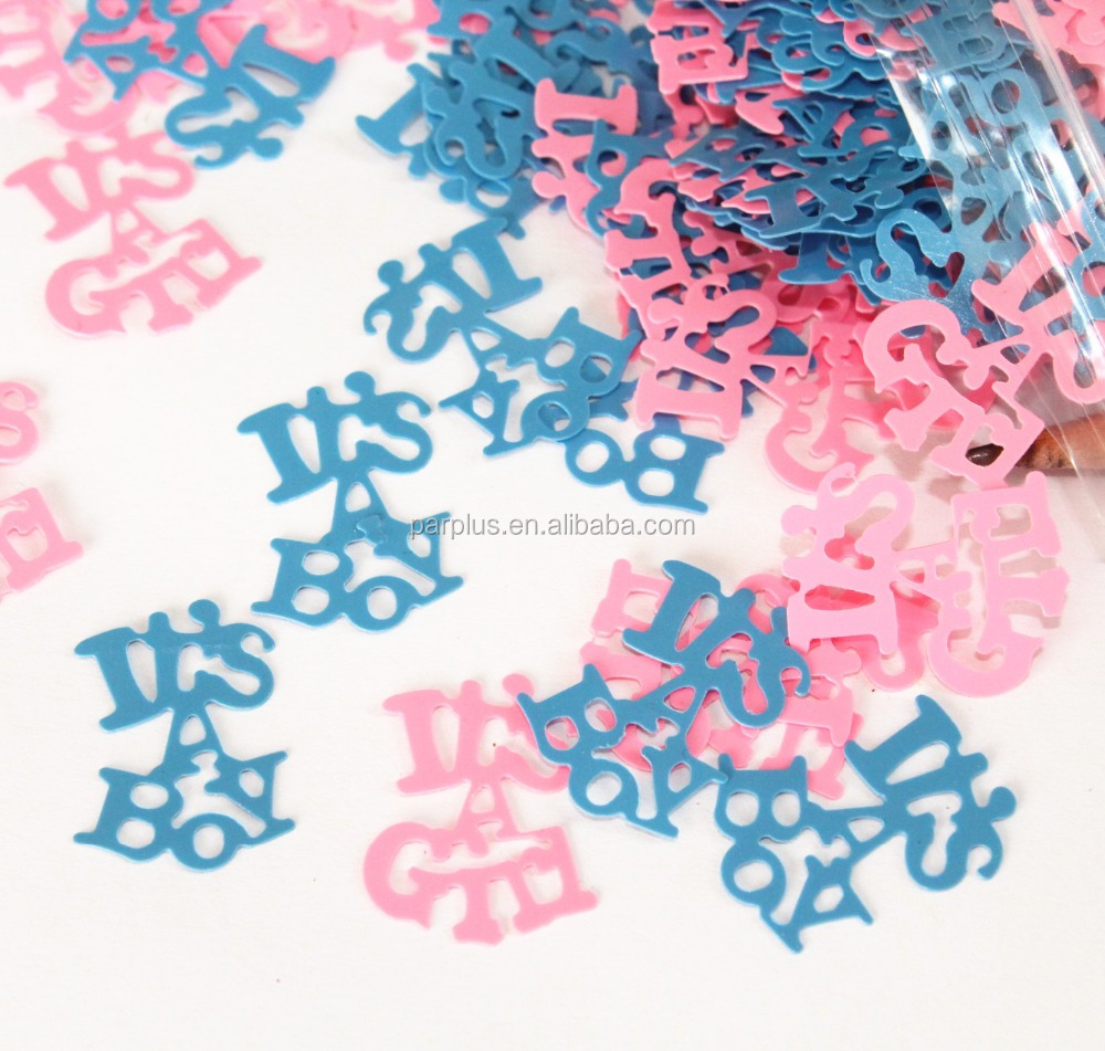 Party Decoration Baby Shower Supplies It's a boy/girl letter table confetti table sequin
