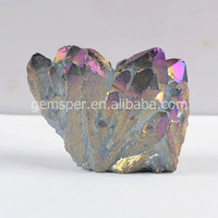 Natural titanium lilac aura quartz crystal, spirit quartz