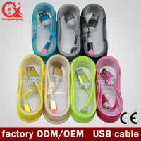 colorful usb nylon braided cable for mobile phone/chaging & data transfer for Samsung