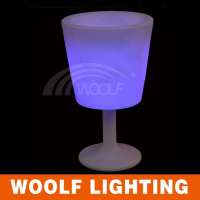 led champagne /beverage big cup shape ice coolers