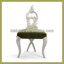 Bisini Furniture Pure White Hand Carved Dresser Chair for Living Room