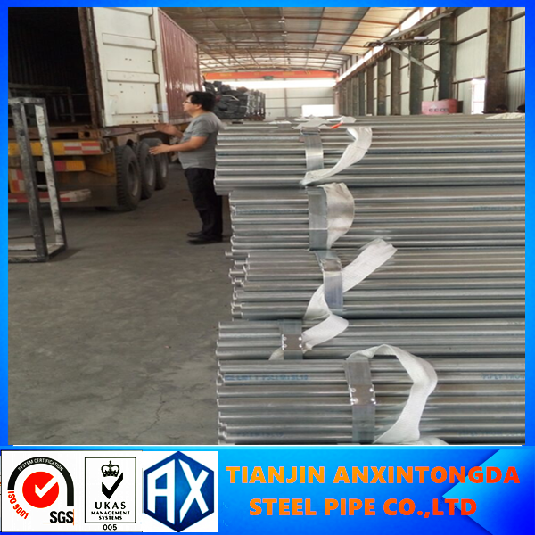 Alibaba best sellers erw welded galvanized steel pipes!20-323.9mm hot dip galvanized steel pipe size madie in tianjin