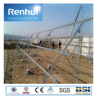 Tianjin Renhui ground solar panel solar bracket system/ground screw mounting bracket solar panel mount stand for solar plant